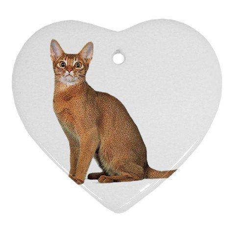Abyssinian Cat Pet Lover Ornament Heart 12168366