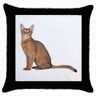 Abyssinian Cat Pet Lover  Throw Pillow Case Black 12168392