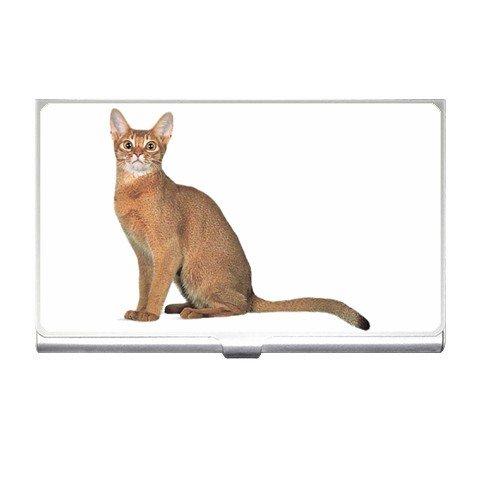 Abyssinian Cat Pet Lover  Business Card Holder Case 12168409