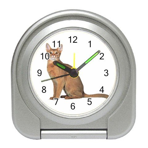 Abyssinian Cat Pet Lover Travel Alarm Clock 12168415