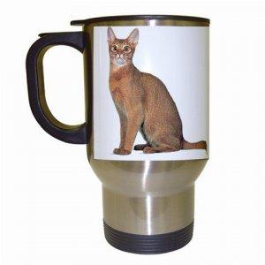 Abyssinian Cat Pet Lover  Travel Mug White 12168423