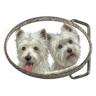 Westies - West Highland White Terriers - Dog Belt Buckle Pet Lover 12111265