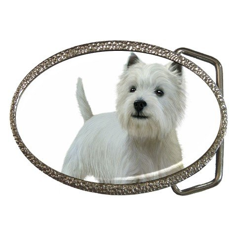 West Highland White Terriers - Westies - Dog Belt Buckle Pet Lover 12111837