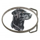 Black Lab Labrador Retriever Dog Belt Buckle Pet Lover 12135263