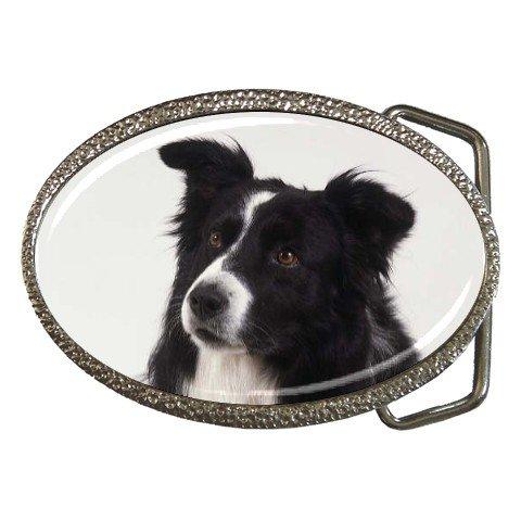 Border Collie Dog Belt Buckle 12142750