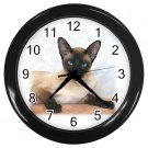 Siamese Cat Pet Lover Black Wall Clock 12203180