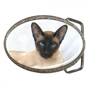 Siamese Cat Pet Lover Belt Buckle 12203182