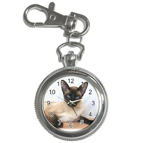 Siamese Cat Pet Lover Key Chain Watch  12203183