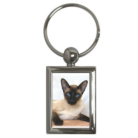 Siamese Cat Pet Lover Key Chain Rectangle 12203187