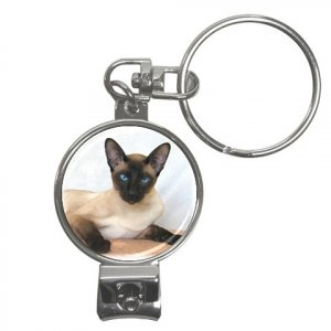 Siamese Cat Pet Lover Nail Clippers Key Chain  12203189