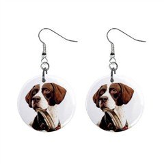 Pointer Dog pet lover Jewelry Button Earrings 12125432