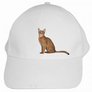 Abyssinian Cat Pet Lover White Baseball Cap Hat 12168358