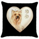"New Dog Yorkshire Terrier Yorkie 18"" Toss or Throw Pillow Case 14298288"
