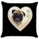 "New Dog Pug 18"" Toss or Throw Pillow Case Pillowcase 14298310"