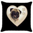 "New Dog Pug 18"" Toss or Throw Pillow Case Pillowcase 14298310"