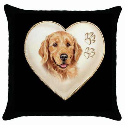 "New Dog Golden Retriever   18"" Toss or Throw Pillow Case Pillowcase  14298314"