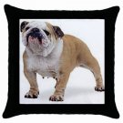 "English Bulldog Dog 18"" Pillow Case Pillowcase Toss or Throw 14326270"