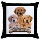 "Dog Golden Retriever 18"" Toss or Throw Pillow Case Pillowcase 15833019"