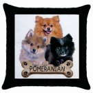 "Dog Pomeranian 18"" Toss or Throw Pillow Case Pillowcase 15833073"