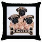 "Pug Dog 18"" Toss or Throw Pillow Case Pillowcase 15832958"