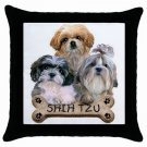 "Shih Tzu Dog Pillow Case Pillowcase 18"" Toss or Throw 15833022"