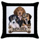 "Beagle Dog Pillow Case Pillowcase 18"" Toss or Throw 15833091"