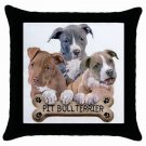 "Pit Bull Dog Pillow Case Pillowcase 18"" Toss or Throw 15832957"