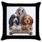 """Cocker Spaniel Dog Pillow Case Pillowcase 18"""" Toss or Throw 15833027"""