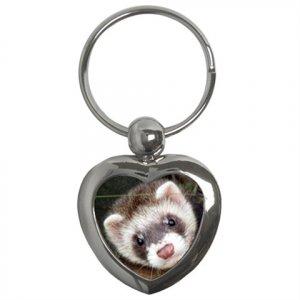 Ferret Pet Lover  Key Chain Heart 17473615