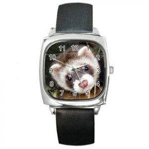 Ferret Pet Lover Square Metal Watch Unisex 17473623
