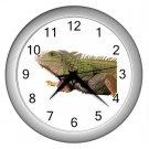 Iguana Lizard Reptile Pet Lover Wall Clock Silver 12239850