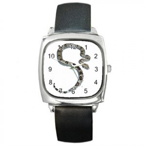 Boa Snake Reptile Pet Lover Square Metal Watch Unisex 12240348