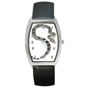 Boa Snake Reptile Pet Lover Barrel Style Metal Watch Unisex 12240349