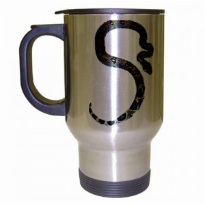 Boa Snake Reptile Pet Lover  Coffee Travel Mug Silver Gray 12240357
