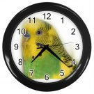 Parakeet Bird Pet Lover Black Wall Clock 16302693