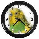 Parakeet Bird Pet Lover Black Wall Clock 16302693