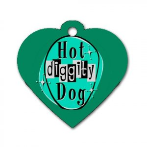 Heart Shape Retro HOT DIGITY DOG Dog Tag or Necklace Jewelry or Pet Collar Tag 23305775
