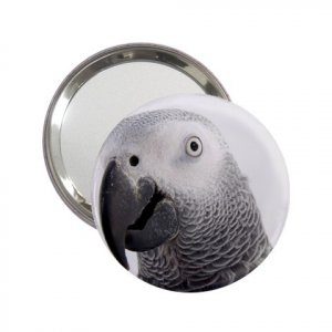 AFRICAN GREY BIRD Pet Lover  Handbag Mirror 17476839