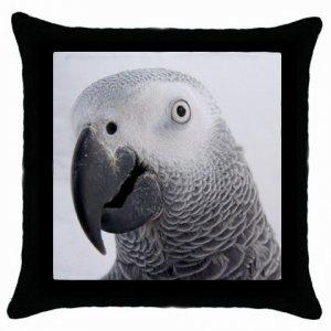 """AFRICAN GREY Bird Pet Lover Pillow Case Pillowcase 18"""" Toss or Throw 17476842"""
