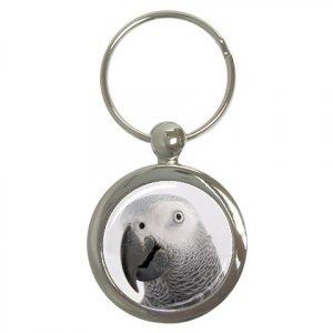 AFRICAN GREY Bird Pet Lover Key Chain Round 17476851