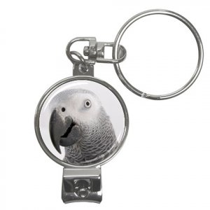 AFRICAN GREY Bird Pet Lover Nail Clippers Key Chain keychain 17476854