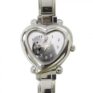AFRICAN GREY BIRD Pet Heart Italian Charm Watch 17476862