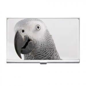 AFRICAN GREY BIRD Pet Lover Business Card Holder Case 17476859