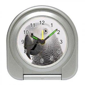 AFRICAN GREY Bird Pet Lover Travel Alarm Clock 17476863 PAEC