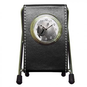 AFRICAN GREY Bird Lover Pen Holder Desk Clock 17476865 PAEC