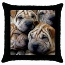 "SHAR PEI Dog Pillow Case Pillowcase 18"" Toss or Throw 14172861 PAEC"
