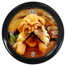 CHINESE SHAR PEI Puppy Dog Pet Lover Wall Clock Black 14172878 PAEC
