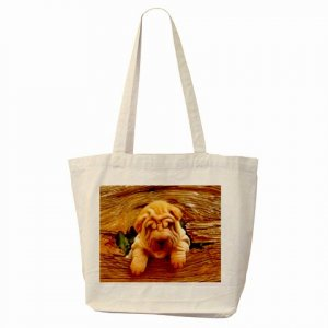 CHINESE SHAR PEI Puppy Dog Pet Lover Tote Bag 14172880 PAEC