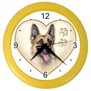 GERMAN SHEPHERD Dog Pet Lover Wall Clock Yellow 26588116 PAEC