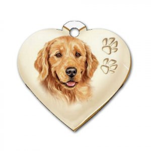 Heart Shape GOLDEN RETRIEVER Dog Tag or Necklace Jewelry or Pet Collar Tag 26588436 PAEC